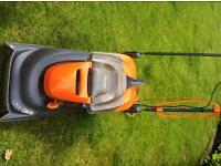 Fly on lawn mower