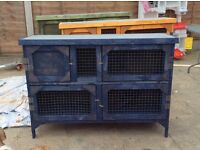 Brand new 4 ft 2 tier rabbit hutch in blue