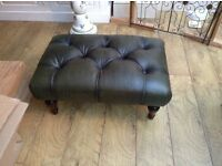Laura Ashley 'Lancaster' leather footstool