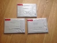John Lewis square pillow cases bnwt 3 for £10