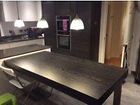 Bespoke table top / breakfast bar. Made by Hacker kitchen Germany.