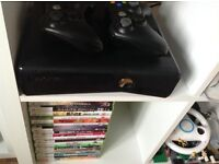 Xbox 360 with 21 games and 2 controllers