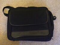 Laptop bag black canvas