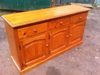 Stunning, quality solid pine sideboard/kitchen unit