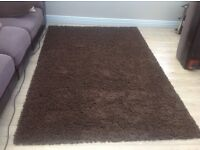 2 shaggy rugs Chocolate Brown / Teal new price £35 each ono