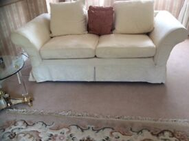 SOFA 3seater CREAM AS NEW HARDLY USED