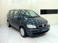 Vauxhall Zafira 1.6 i 16v 5dr-12 Month MOT-12 Month Warranty-Low Mileage 7 Seater-Service History