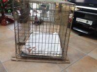 Rosewood medium size gold dog cage