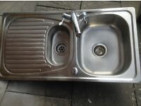 Stainless steel sink 1.5 bowl