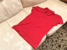 Girls red polo tshirt age 9-10 years brand new