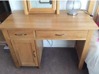 Solid oak desk / dressing table
