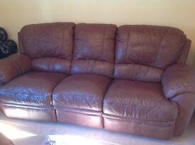 Leather sofa recliner free