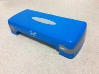 Fitness step box ('Davina aerobic step') adjustable height and compact