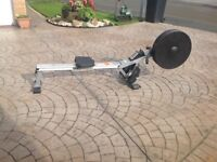 V fit rowing machine in good working order. Needs new pedal straps