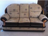3 Seat sofa and 2 matching arm chairs
