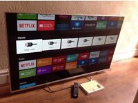 "SONY 50"" SUPER Smart ULTRA SLIM 3D ANDROID TV,55W805C,built in Wifi,Freeview HD,excellent condition"