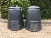 Two portable compost makers