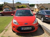 Ford ka zetec red with alloy wheels tinted rear glass