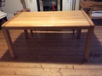 Lovely Habitat Radius Solid Oak Dining Table and Bench
