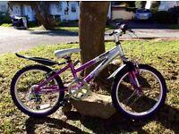Apollo lightweight aluminium girls bike