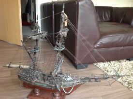 Hand made wooden ship