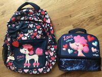 Backpack and Pack lunch set from Smiggle in excellent condition