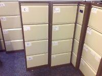 Bisley 4 drawer filing cabinets