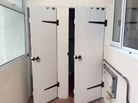 White country style wooden door, 61cm wide x 198cm tall