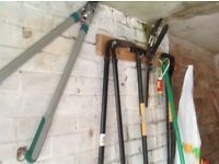 Garden tools job lot or can sell separately