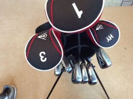 Full Set Dunlop Left Hand Golf Clubs & Stand Bag