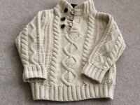 Chunky warm jumper from Gap for 2 year old.