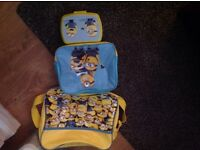 Unisex minion bag lunch bag and sandwich box ex condition