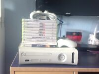 Xbox360 2 controllers and games, mainly fifa