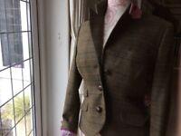 Jack Wills blazer / jacket size 12 green and pink tweed worn once vgc