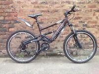 Saracen raw2 Mens full sus disc mountain bike