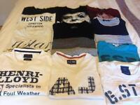 10 X mens large t-shirts including G-star raw, Armani, Henri Lloyd and Jack Jones