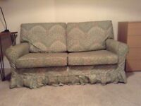 Small Double Sofa Bed in pretty green and floral print cover