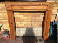 Heavy wooden ornate fire surround