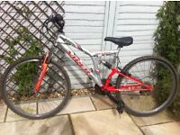 16 inch mountain bike for sale. In wirking order but would benefit from some TLC