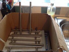 22 steel bar kitchen handles