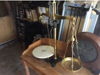 Antique brass scales
