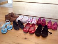 Bundle of Girls Shoes Size 10 (9 Pairs)
