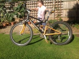 "Mountain bike for sale. 26"" wheels. Good condition. £50.00"