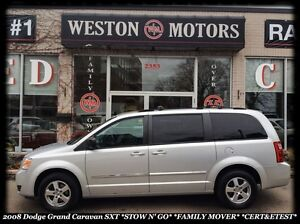 2008 Dodge Grand Caravan SXT *STOW n' GO *FAMILY MOVER *CERT & E