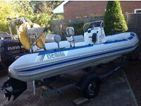 Rib Boat Gemini Waverider 550 with 90 Evinrude Engine