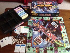 Monopoly Star Wars Saga Collector Edition Hasbro Parker 2005 Board Game