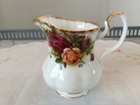 Royal Albert Bone China Milk Jug (Coffee size) Old Country Roses 1st Quality.