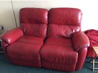 2x two electric reclining settees for sale