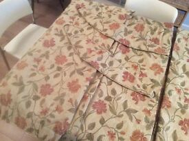 "Pair of Sundour curtains 72"" wide x 90"" long including tie backs."