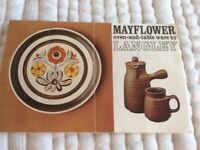 Langley Mayflower oven and table ware.